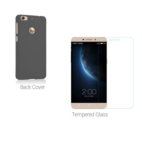 Letv Le 1s Tempered Glass Plus Back Cover Le 1s Screen Protector Guard Case Cover Combo