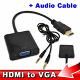 Epresent HDMI Input to VGA Adapter Converter with Audio For PC Laptop NoteBook HD DVD