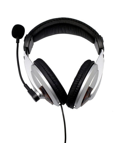 Enter Headphone with Mic EH-75 Wired Headphones Over-the-ear Headset (Black)