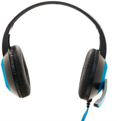 Enter Headphone with Mic EH-90 Wired Headphones (Blue, Over the Ear)