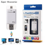 Epresent i-Flash Drive USB Micro SD Memory  Card Reader HD 32GB with dual storage between iOS and Mac/PC - Apple licensed for iPod/iPhone/iPad