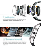 Epresent KW08 Smartwatch Waterproof with Magnetic/ Wireless Charging IPS Round Touch Screen Gesture Control Wrist Watch Support Heart Rate Monitor for Smartphones Android (Black-Silver)