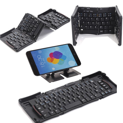 Mini Wireless Bluetooth 3.0 Keyboard Folding Foldable Keyboard for IOS/Windows/Android High Quality mobile phone tablet PC