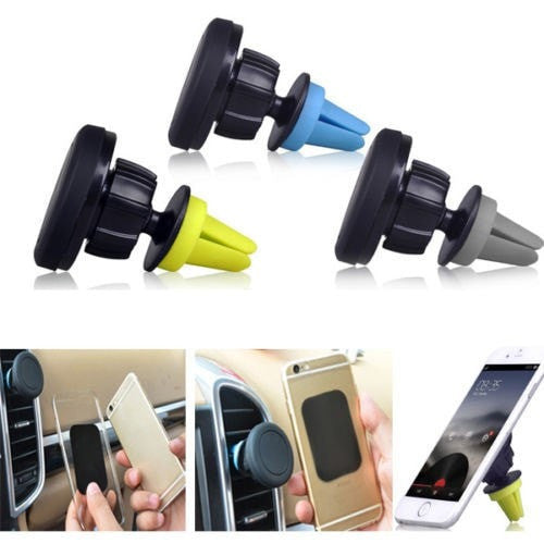 Car Magnetic Air Vent Mount Holder Smartphone Car Mount Holder Stand for All Mobile Smartphones