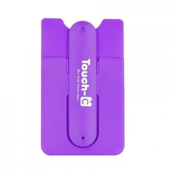 Touch-C Unique One-Touch Stand and Credit Card Holder for Any Smartphones (Purple Touch-c)