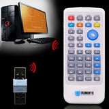 Epresent Multifunctional 2.4G Wireless PC Computer Remote Control Media Network TV Controller Pointer with Mini USB2.0 Receiver PC Laptop IPTV Network TV-Media Applications
