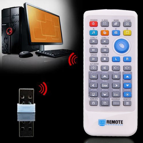 Wireless PC Computer Remote Control Media Network TV Controller Pointer with Mini USB2.0 Receiver PC Laptop