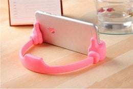 New Design Multiple Hand Shape Mobile Phone Stand Holder For All Smartphones And Tablets pink