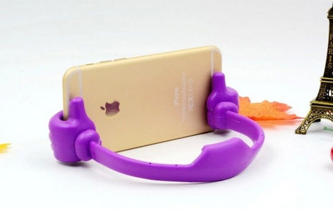 New Design Multiple Hand Shape Mobile Phone Stand Holder For All Smartphones And Tablets Purple