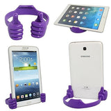 Epresent New Design Multiple Hand Shape Mobile Phone Stand Holder For All Smartphones And Tablets Purple