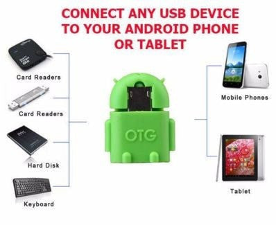 Micro USB OTG Adapter Converter for Android Tablet PC connect to Flash Mouse Keyboard