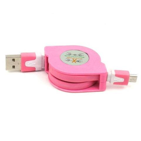 Retractable USB 2.0 to Micro USB Cables Sync Data Charge for HTC, Samsung, LG, Lenovo, Micromax, Xiaomi Redmi, Asus, Sony Xperia  and All Smartphones