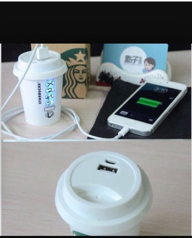 Power Bank 5200mAh Portable Charger Starbucks Mobile Power Bank Battery for all Smartphones