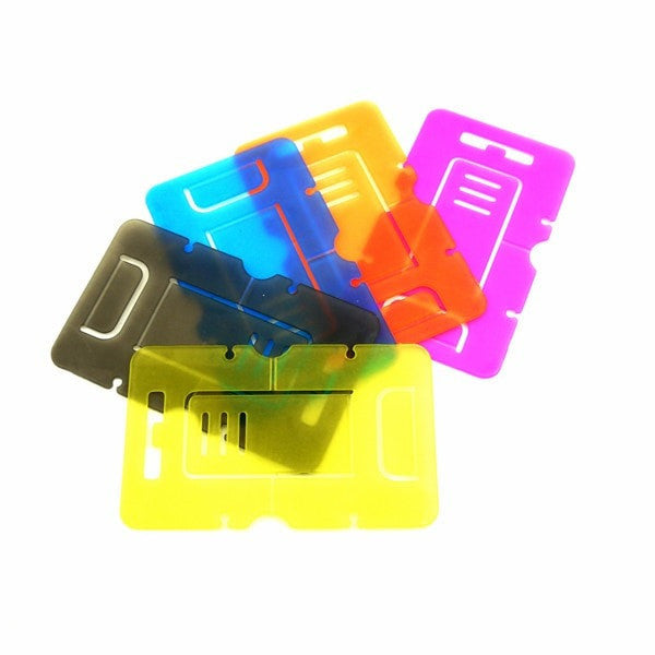 SET OF 5 Portable Plastic Foldable Credit Card Mobile Cell Phone Tablet Stand Holder for iPhone Samsung Galaxy S3 S4 S5 Note 2 3 iPad HTC Sony etc