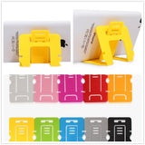 EPRESENT SET OF 5 Portable Plastic Foldable Credit Card Mobile Cell Phone Tablet Stand Holder for iPhone Samsung Galaxy S3 S4 S5 Note 2 3 iPad HTC Sony etc