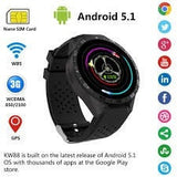 Epresent Smartwatch KW88 MT6580 quad core 1.39'' Amoled 400*400 3G Calling Smart Watch Pedometer Heart Rate Wearable Device with 0.2MP Camera for Samsung, Sony and Other Android Smartphones (Black)