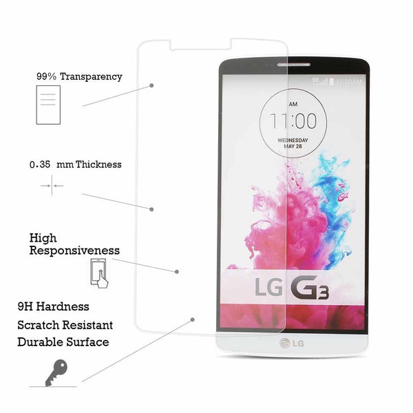 TEMPERED GLASS SCREEN PROTECTOR FOR LG G3 SCREEN GUARD FOR LG G3 SCREEN PROTECTOR FOR LG G3