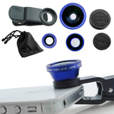Epresent Universal 3 In 1 Clip-on Fish Eye Macro Wide Angle Mobile Phone Lenses Camera Kit for IPhone 4 5 6 Samsung S4 S5 LG Xiaomi Meizu