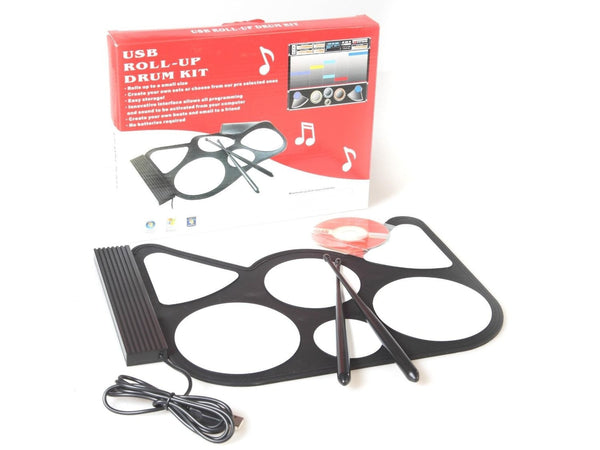 USB Roll-Up Drum Kit, Portable USB Powered, Portable Roll-up USB Drum, 8 Special Drum Pad Effects, Create your own sets, Easy to use