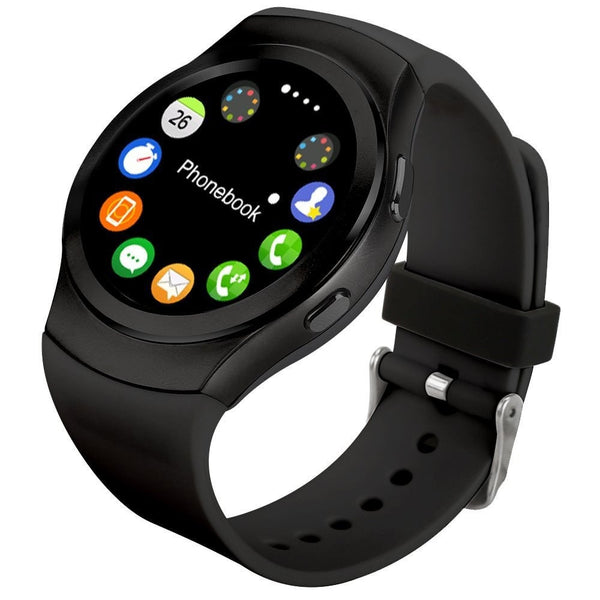 Epresent  G3 Smart Watch Phone With Sim Micro SD Card Perdometer For Android IOS Circular Smartphones Heart Rate Monitor