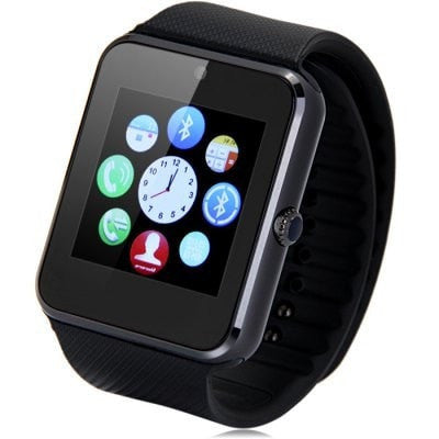 GT08 Bluetooth Smart Watch with SIM Card Slot and NFC Cell Phone Watch Phone Remote Camera Pedometer Tracker Watch for All Android Smartphones