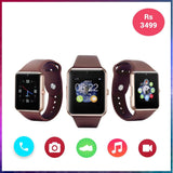 EPRESENT WEARABLE GT08 Bluetooth Smart Watch with SIM Card Slot and NFC Cell Phone Watch Phone Remote Camera Pedometer Tracker Watch for All Android Smartphones