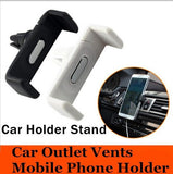 Epresent White Car Mount Ventilation Cell Phone Mount - Universal Holder - Car - 360 Degree Rotation - Best Design - Easy To Use - Simple Design and All Smartphones WITH FREE CARD READER