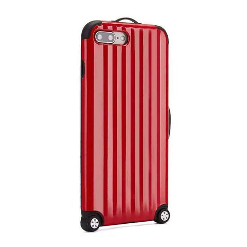 IPHONE 6 PLUS SUITCASE BACK HARD CASE COVER FOR IPHONE 6 PLUS TRAVEL LUGGAGE CARRIER SUITCASE WITH 10 THEMATIC STICKER SHEETS - PROTECTIVE & STYLISH