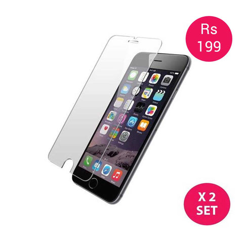 Set of 2 Epresent Tempered Glass for Iphone 6/6s/ 6 Plus Tempered Glass Screen Protector for Iphone 6 Plus