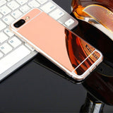 Luxury Iphone Mirror Case For Iphone 7 / 8 Plus Rose Gold Color