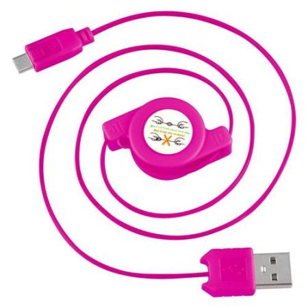 Retractable USB 2.0 to Micro USB Cables Sync Data Charge For Android Phones