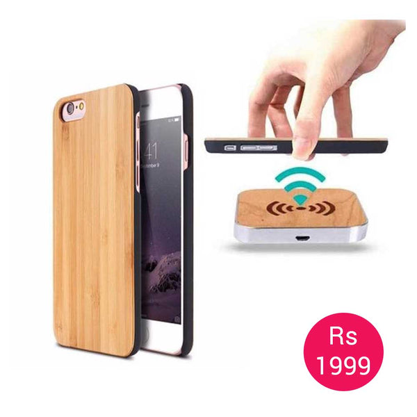 Iphone 6 Plus 6s Plus Wooden Case Qi Wireless Charging Car Plus Wireless Dock