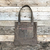 Leather Bag - Vintage Grey