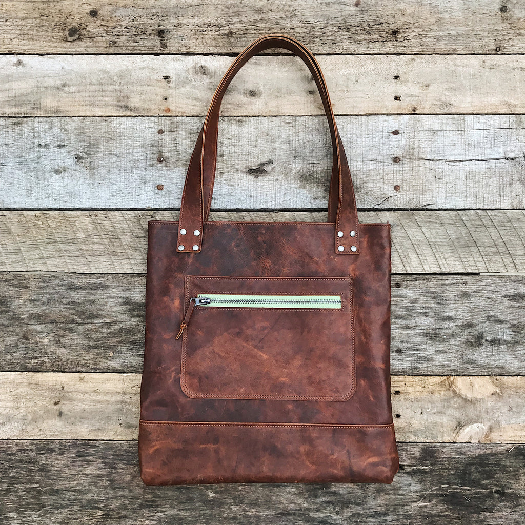 Leather Bag - Vintage Brown