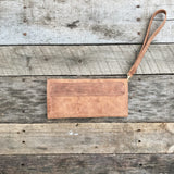 Leather Clutch - Vintage Spice