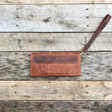 Leather Clutch - Vintage Brown