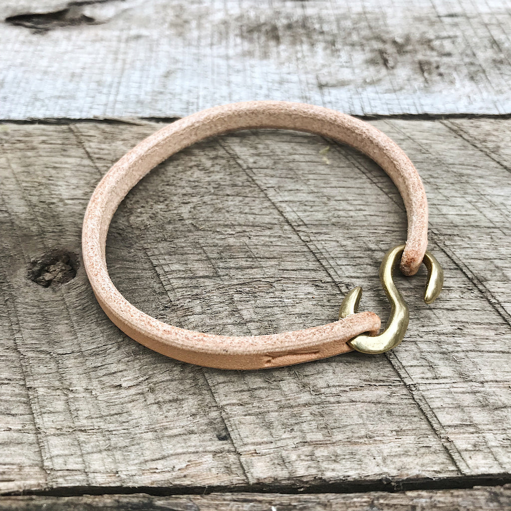 "Leather ""S"" Hook Bracelet"