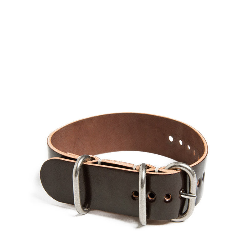 Color No. 8 Shell Cordovan 3 Ring Watch Strap