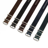 Reversed Black Shell Cordovan 3 Ring Watch Strap