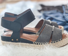 Load image into Gallery viewer, Boho Black Espadrilles