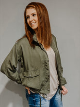 Load image into Gallery viewer, Essential Olive Green Utility Jacket