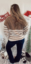 Load image into Gallery viewer, Mocha Striped Sweater