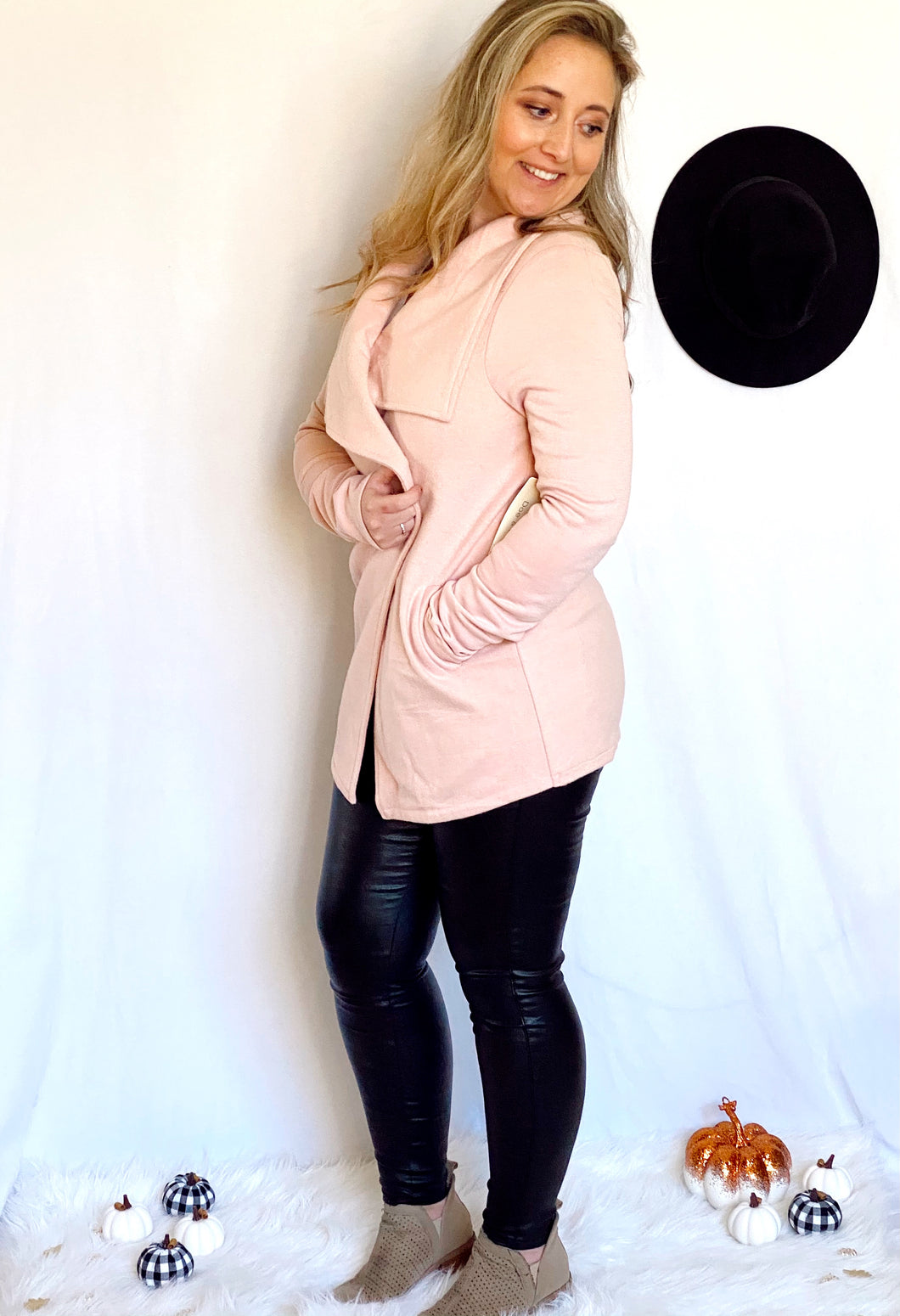 Pretty in Pink Drape Cardigan
