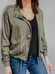 Essential Olive Green Utility Jacket
