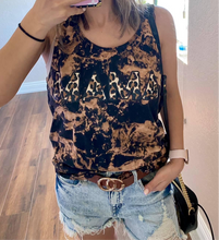 Load image into Gallery viewer, Leopard MAMA Distressed Tank