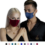 100% Silk Face Mask - 2 Pack