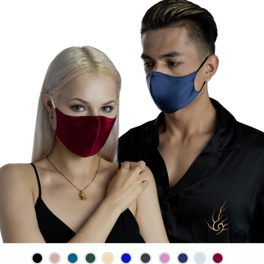 100% Silk Face Mask - pack of 2 Vere