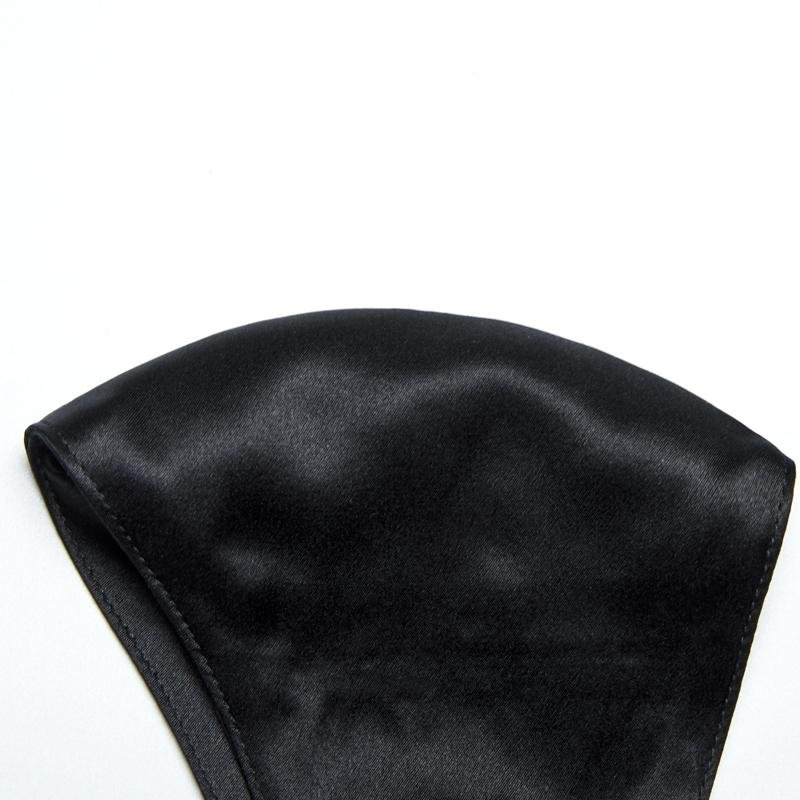 100% Silk Face Mask with Filter Pocket-Black Vere