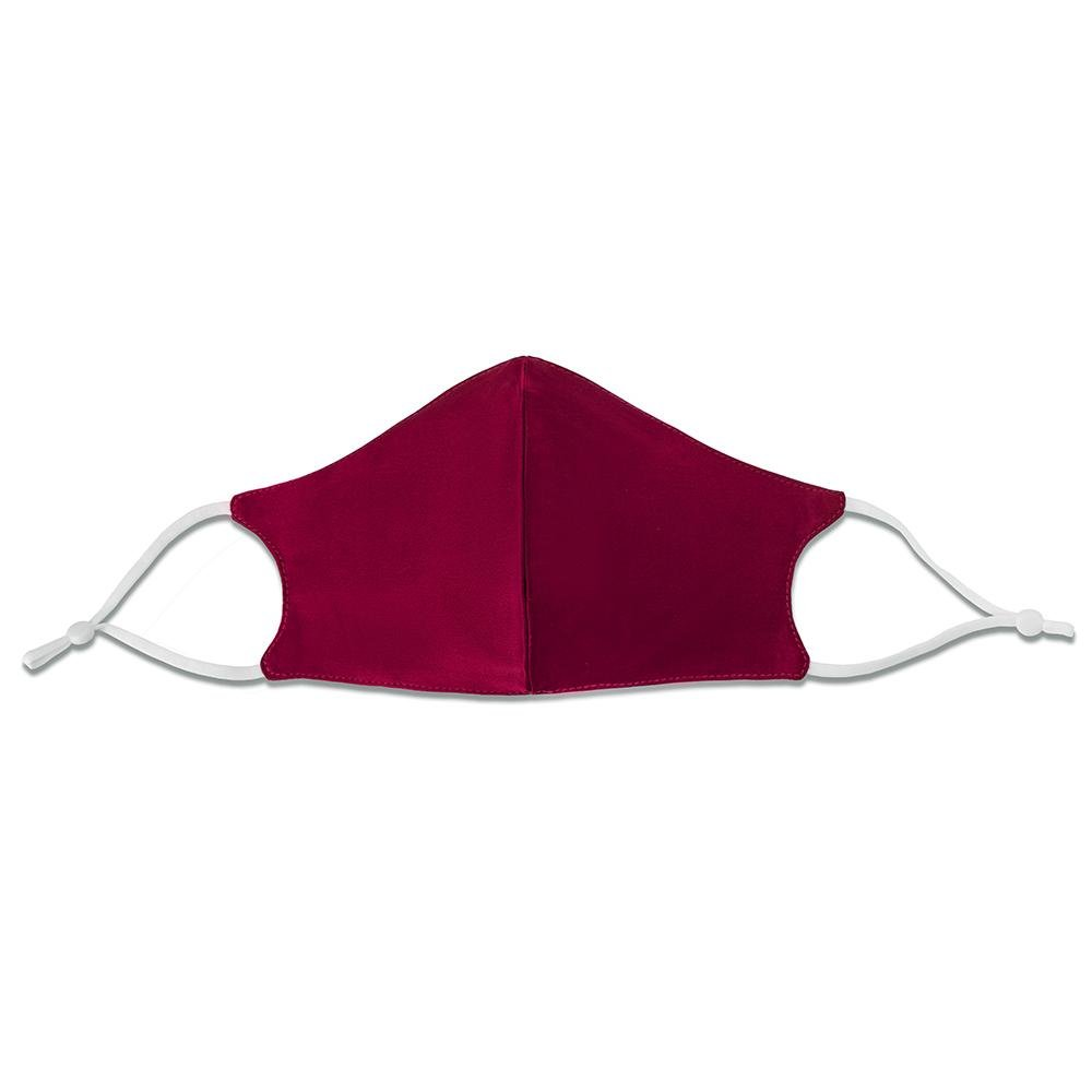100% Silk Face Mask with Filter Pocket-Burgundy Vere