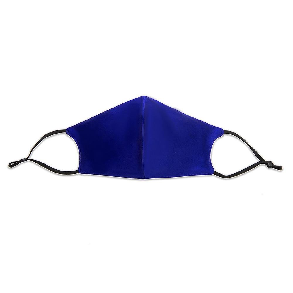 100% Silk Face Mask with Filter Pocket-Royal Blue Vere